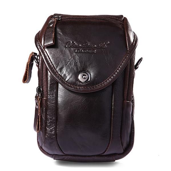 Multifunction Small Fashion Waist Bag Men Leather Belt Phone Bag Single Shoulder bag Crossbody Bag