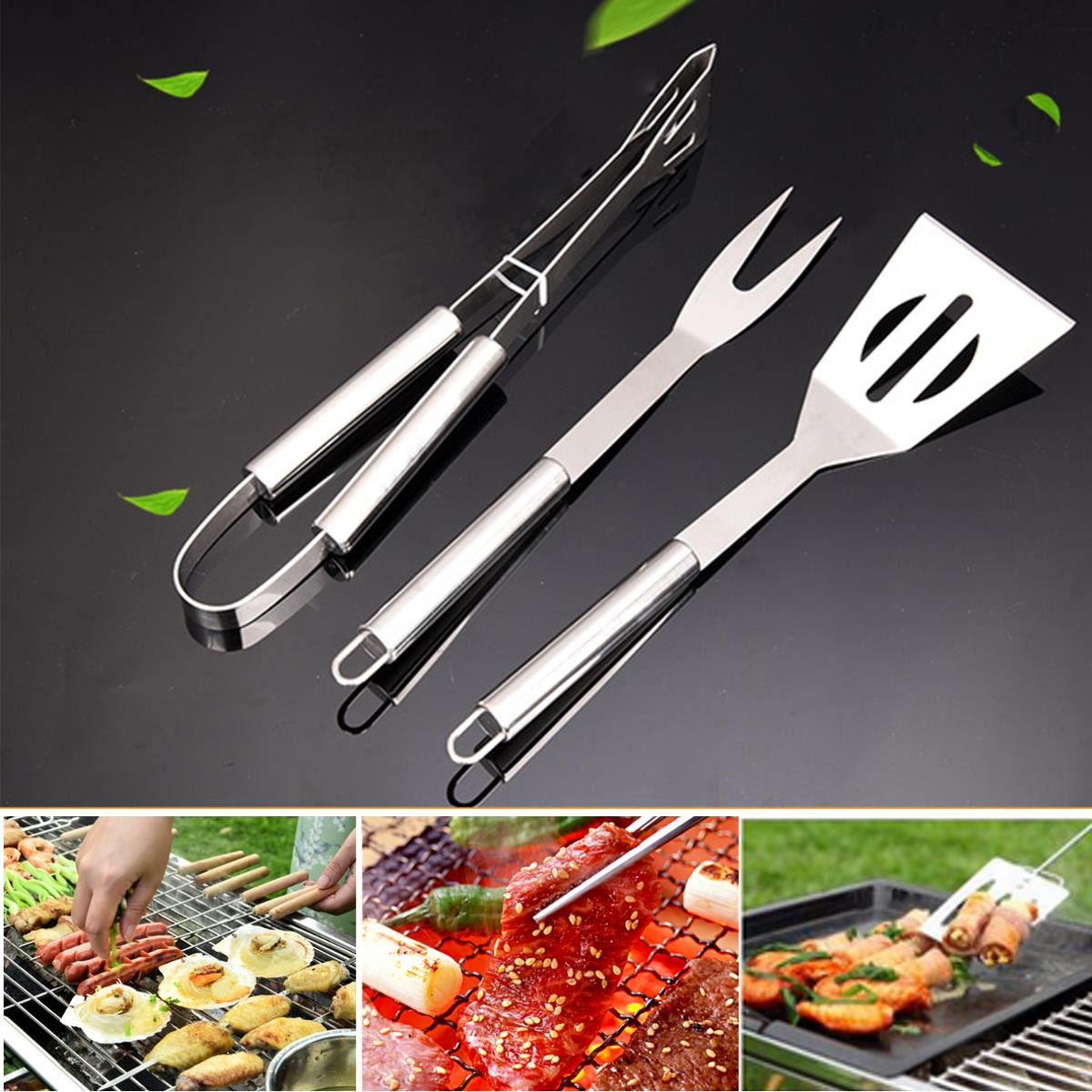 3Pcs BBQ Barbecue Tableware  sc 1 st  Alex NLD & 3Pcs BBQ Barbecue Tableware Stainless Steel Cooking Fork Gripper ...