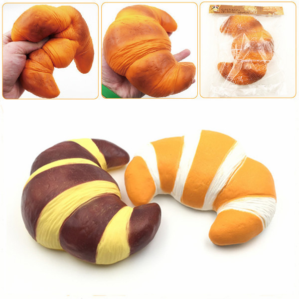 Squishy Bread Collection : Squishyfun Jumbo Croissant Squishy Bread Super Slow Rising 18x12cm Squeeze Collection Toy Fun ...