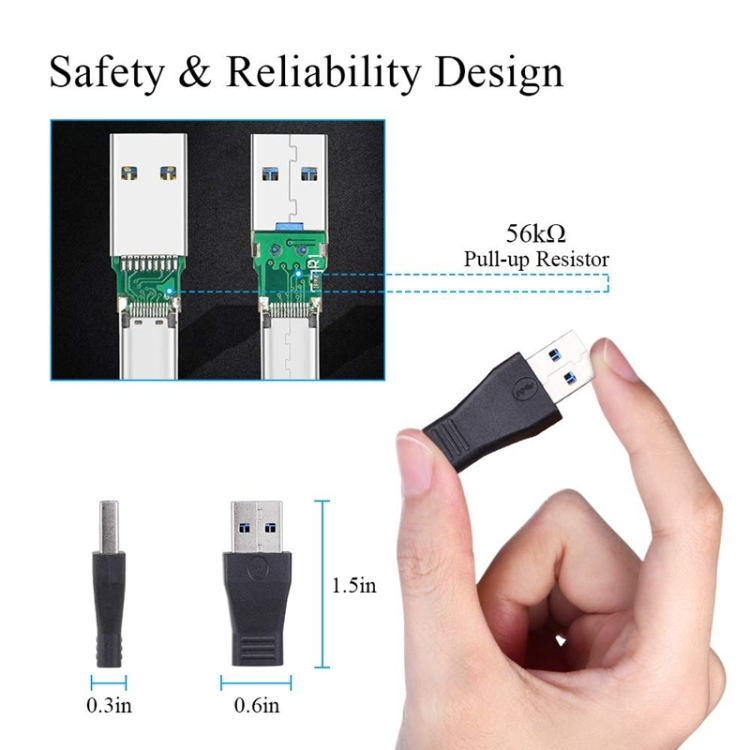 USB 3.0 Male to USB-C / Type-C 3.1 Female Connector Adapter