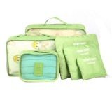 6 in 1 Outdoor Traveling / Household Clothing Storage Bag Included Six Pieces Suit (Green)