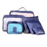 6 in 1 Outdoor Traveling / Household Clothing Storage Bag Included Six Pieces Suit (Dark Blue)