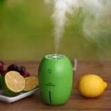 180ML Creative Lemon Shape USB Air Humidifier with Luminous & Transparent Water Line & Power Off Protection for Car & Office & Home (Green)