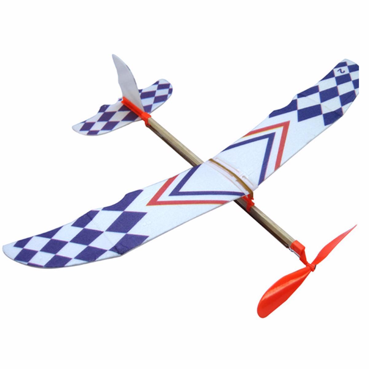 Elastic Rubber Band Powered Diy Foam Plane Kit Aircraft