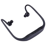 506 Life Waterproof Sweatproof Stereo Wireless Sports Bluetooth Earbud Earphone In-ear Headphone Headset with Micro SD Card Slot for Smart Phones & iPad & Laptop & Notebook & MP3 or Other Bluetooth Audio Devices, Maximum SD Card Storage: 8GB (Black)