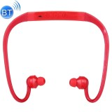 506 Life Waterproof Sweatproof Stereo Wireless Sports Bluetooth Earbud Earphone In-ear Headphone Headset with Micro SD Card Slot for Smart Phones & iPad & Laptop & Notebook & MP3 or Other Bluetooth Audio Devices, Maximum SD Card Storage: 8GB (Red)
