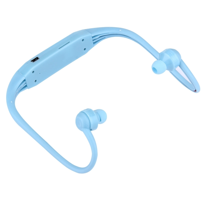 506 Life Waterproof Sweatproof Stereo Wireless Sports Earbud Earphone In-ear Headphone Headset with Micro SD Card Slot for Smart Phones & iPad & Laptop & Notebook & MP3 or Other Audio Devices, Maximum SD Card Storage: 8GB (Blue)