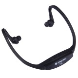 507 Life Waterproof Sweatproof Stereo Wireless Sports Bluetooth Earbud Earphone In-ear Headphone Headset with Micro SD Card Slot for Smart Phones & iPad & Laptop & Notebook & MP3 or Other Bluetooth Audio Devices, Maximum SD Card Storage: 32GB (Black)