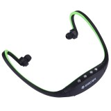 SH-W3 Life Waterproof Sweatproof Stereo Wireless Sports Earbud Earphone In-ear Headphone Headset with Micro SD / TF Card Slot & Charging Cable for Smart Phones & iPad & Laptop & Notebook & MP3 or Other Audio Devices, Maximum SD Card Storage: 32GB (Black + Green)