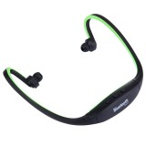 BS19C Life Waterproof Sweatproof Stereo Wireless Sports Bluetooth Earbud Earphone In-ear Headphone Headset with Micro SD / TF Card Slot & Hands Free Call & FM Function for Smart Phones & iPad & Laptop & Notebook & MP3 or Other Bluetooth Audio Devices (Green)