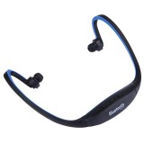 BS19C Life Waterproof Sweatproof Stereo Wireless Sports Bluetooth Earbud Earphone In-ear Headphone Headset with Micro SD / TF Card Slot & Hands Free Call & FM Function for Smart Phones & iPad & Laptop & Notebook & MP3 or Other Bluetooth Audio Devices (Dark Blue)