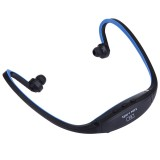 SH-W1FM Life Waterproof Sweatproof Stereo Wireless Sports Earbud Earphone In-ear Headphone Headset with Micro SD Card For Smart Phones & iPad & Laptop & Notebook & MP3 or Other Audio Devices, Maximum SD Card Storage 8GB (Dark Blue)