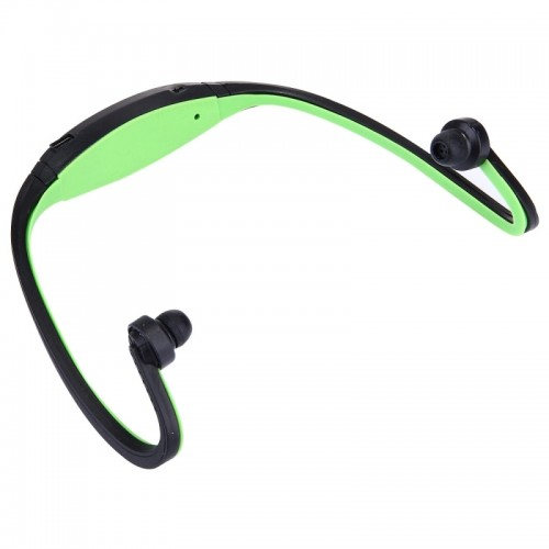 BS19 Life Waterproof Sweatproof Stereo Wireless Sports Bluetooth Earbud Earphone In-ear Headphone Headset with Hands Free Call Function for Smart Phones & iPad & Laptop & Notebook & MP3 or Other Bluetooth Audio Devices (Green)