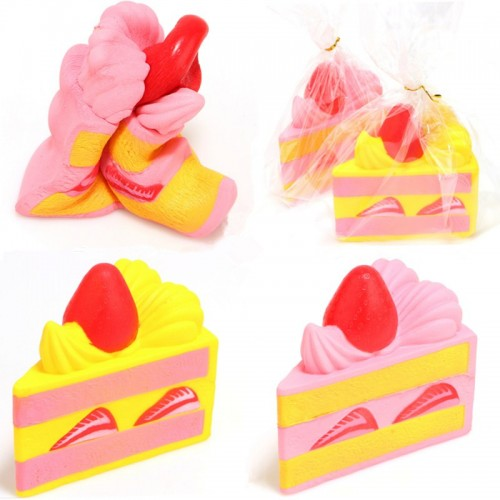 Squishyfun Strawberry 15CM Cake Squishy Super Slow Rising Original Packaging Toy Collection