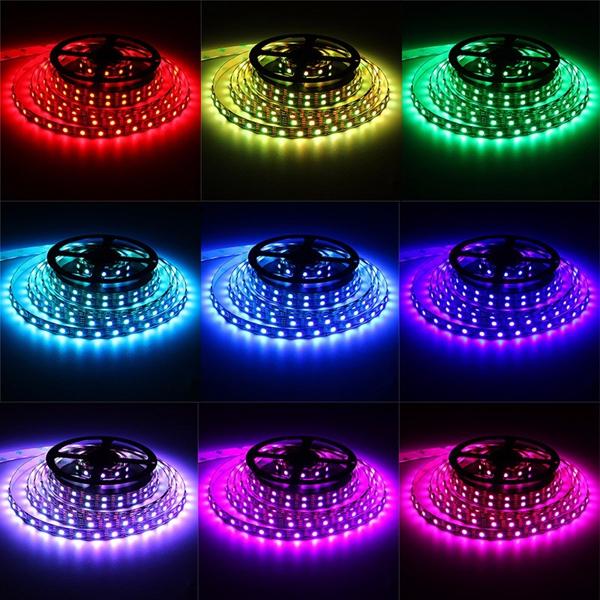 Waterproof 5050 RGB LED USB Strip Light TV Back Lighting Kit + 24Key Remote