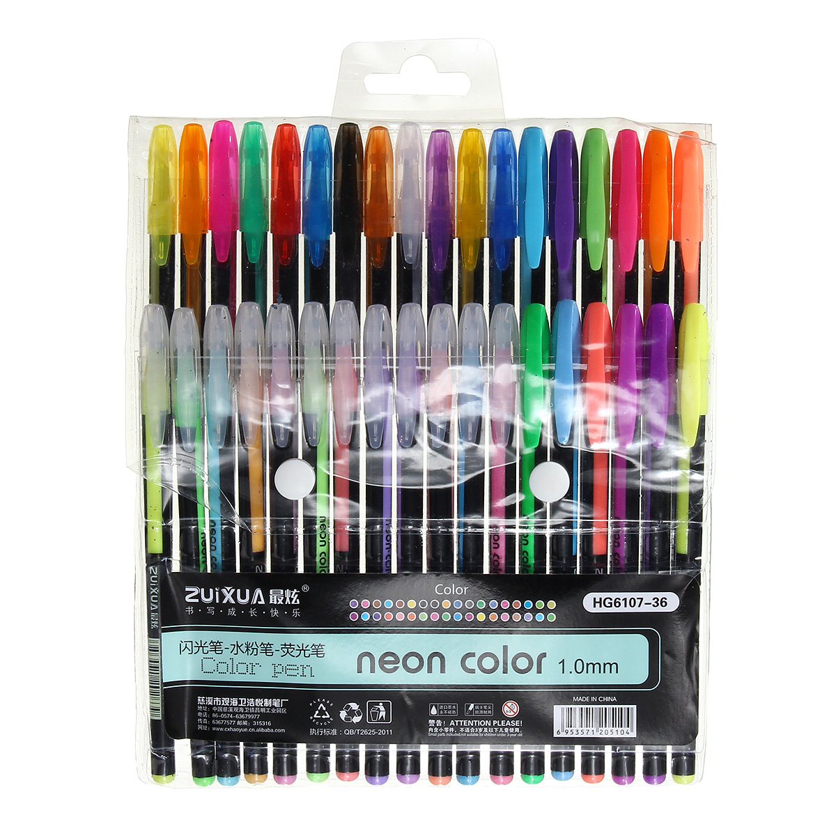 36 Colors Gel Pen Set Adult Coloring Book Ink Pens Drawing ...