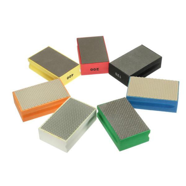 95 58mm 60 3000 Grit Diamond Hand Pad For Granite Concrete