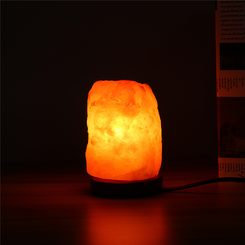 Salt Lamp Leaking Oil : 14x10CM Natural Himalayan Ionic Air Purifier Rock Crystal Salt Lamp Table Night Light Alex NLD