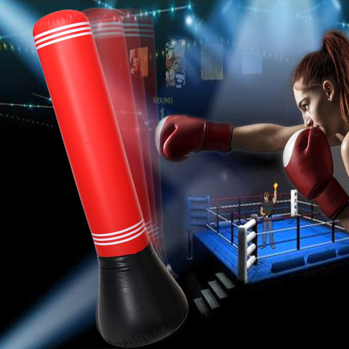 inflatable punch tumbler fitness children beginner boxing training rh alexnld com
