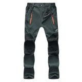 Spring Summer Unisex Outdoor Thin Elastic Stretch Pants Casual Waterproof Breathable Trousers