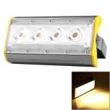 LS50A 50W 4 LEDs 5000 LM 3000-6000K IP65 Waterproof New Design LED Linear Project-light Lamp Flood Light Lamp, AC 100-240V (Warm White)