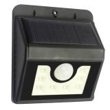 L68 8 LEDs White Light Solar Motion Human Body Sensor Wall Light with Solar Panel