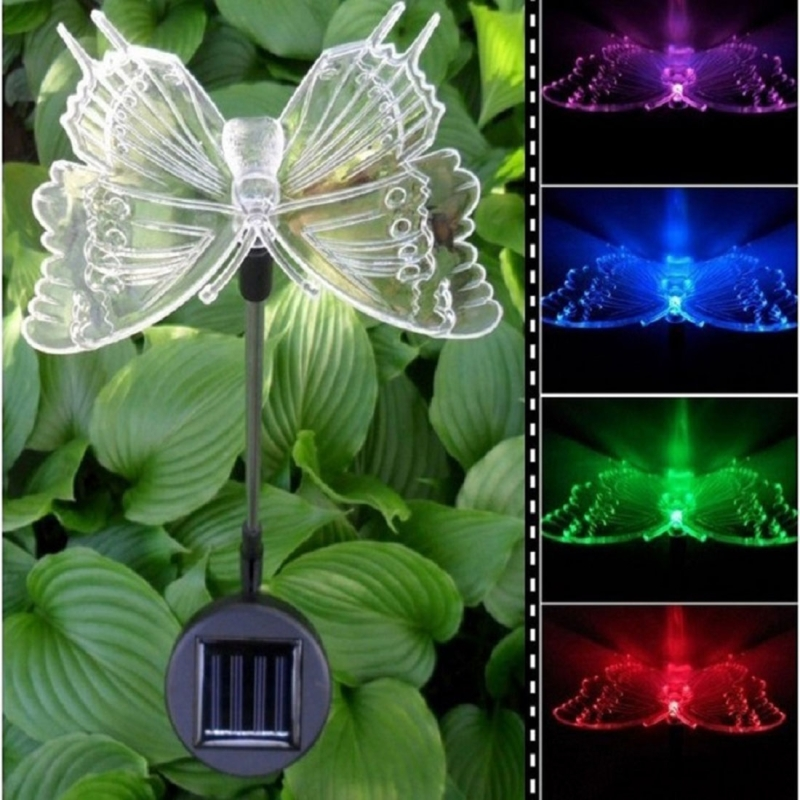Outdoor Solar Lights Ireland: A106 3 PCS Bird Dragonfly Butterfly Pattern LED Solar