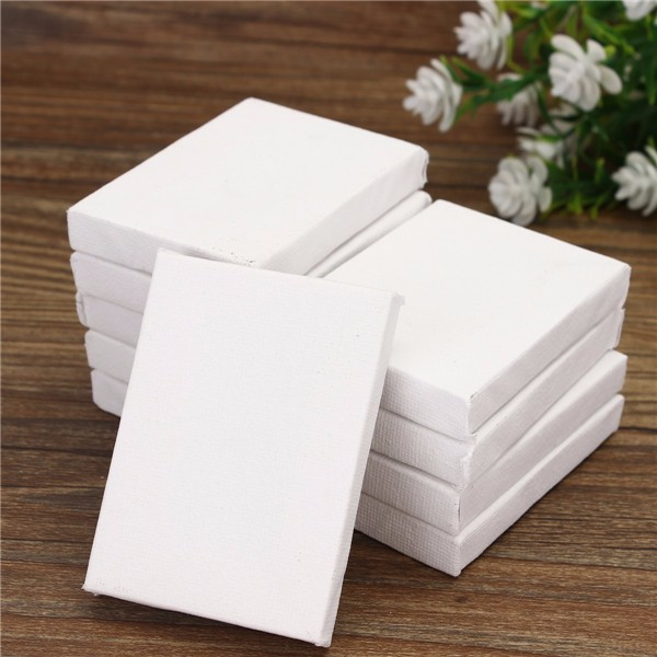 10 pcs mini stretched artists canvas small art board for Small canvas boards