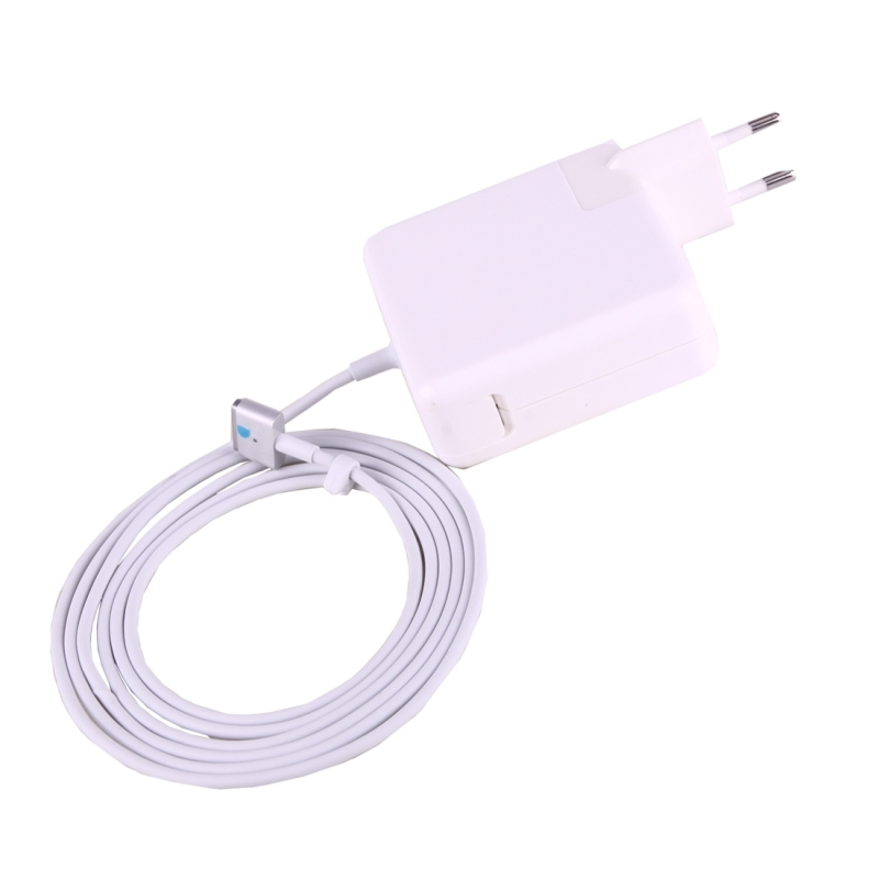 60W 16.5V 3.65A 5 Pin T Style MagSafe 2 Replacement AC Adaptor for Apple Macbook A1425 A1435 A1502, Length: 1.8m (White)