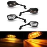 Pair LED Turn Signal Rear View Mirrors For Suzuki GSXR600 GSXR750 GSXR1000