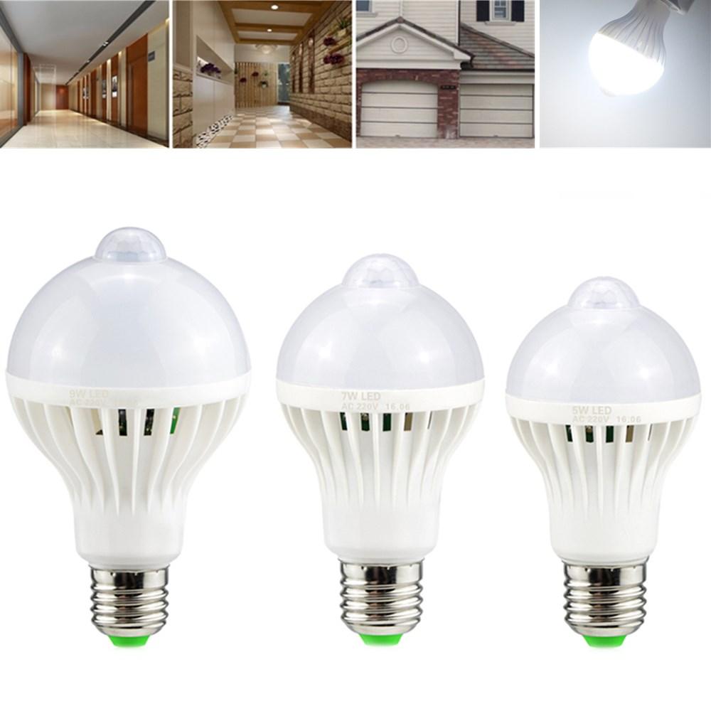 e27 5w 7w 9w pir infrared motion sensor led light lamp. Black Bedroom Furniture Sets. Home Design Ideas