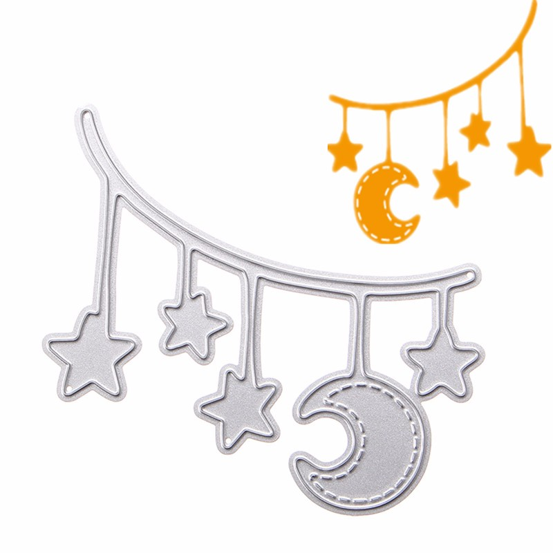 Star Moon Metal DIY Cutting Dies Stencil Scrapbook Card Album Paper Embossing Craft