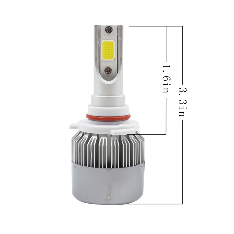 2 PCS C9 9005 36W 3800 LM 6000K Waterproof IP68 Car Auto LED Headlight with 2 COB LED Lamps, DC 9-36V (White Light)