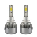 2 PCS C9 880/881 36W 3800 LM 6000K Waterproof IP68 Car Auto LED Headlight with 2 COB LED Lamps, DC 9-36V (White Light)
