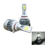 2 PCS C9 9006 36W 3800 LM 6000K Waterproof IP68 Car Auto LED Headlight with 2 COB LED Lamps, DC 9-36V (White Light)