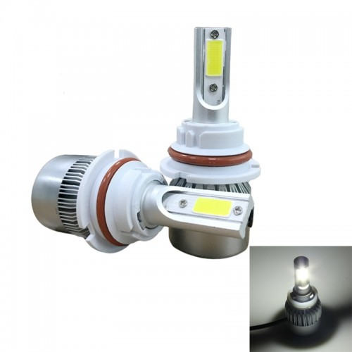 2 PCS C9 9007 36W 3800 LM 6000K Waterproof IP68 Car Auto LED Headlight with 2 COB LED Lamps, DC 9-36V (White Light)