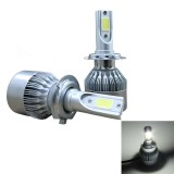 2 PCS C9 H7 36W 3800 LM 6000K Waterproof IP68 Car Auto LED Headlight with 2 COB LED Lamps, DC 9-36V (White Light)