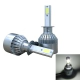 2 PCS C9 H1 36W 3800 LM 6000K Waterproof IP68 Car Auto LED Headlight with 2 COB LED Lamps, DC 9-36V (White Light)
