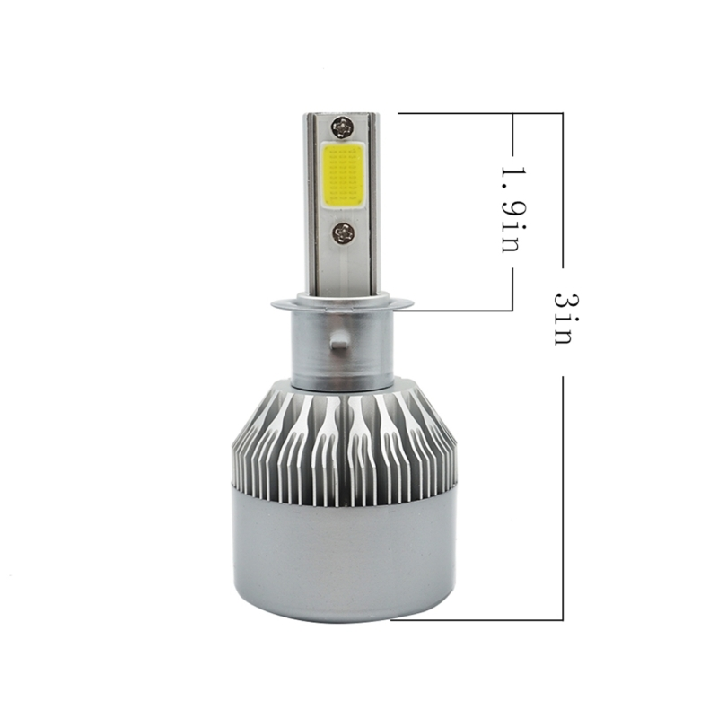 2 PCS C9 H3 36W 3800 LM 6000K Waterproof IP68 Car Auto LED Headlight with 2 COB LED Lamps, DC 9-36V (White Light)