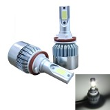 2 PCS C9 H8/H11 36W 3800 LM 6000K Waterproof IP68 Car Auto LED Headlight with 2 COB LED Lamps, DC 9-36V (White Light)