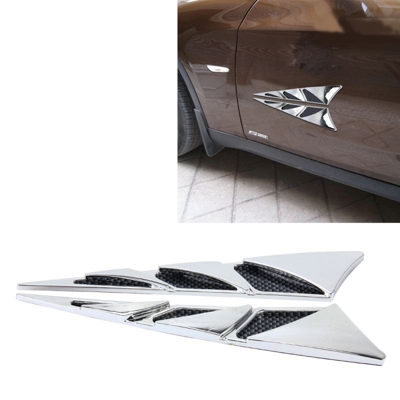 YI-226 2 PCS Car Side Air Intake Flow Vent Fender Decorative Stickers Cover. 1afa1b3d7dad5d. ...