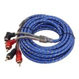 4.5m Car Auto Weaver Audio Stereo Cable OFC 2RCA to 2RCA Jack Audio Cable Male to Male RCA Aux Cable
