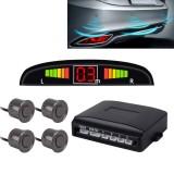 Car Buzzer Reverse Backup Radar System – Premium Quality 4 Parking Sensors Car Reverse Backup Radar System with LCD Display (Carbon Grey)