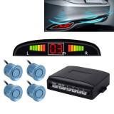 Car Buzzer Reverse Backup Radar System – Premium Quality 4 Parking Sensors Car Reverse Backup Radar System with LCD Display (Light Blue)