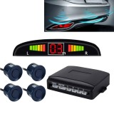 Car Buzzer Reverse Backup Radar System – Premium Quality 4 Parking Sensors Car Reverse Backup Radar System with LCD Display (Dark Blue)