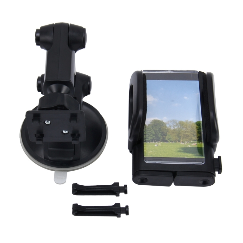 SHUNWEI SD-1121B Car Auto Multi-fuctional Adjustable Arm Double Layer PU Base Phone Mount Holder for Most of Phone and GPS Length between 48mm and 109mm