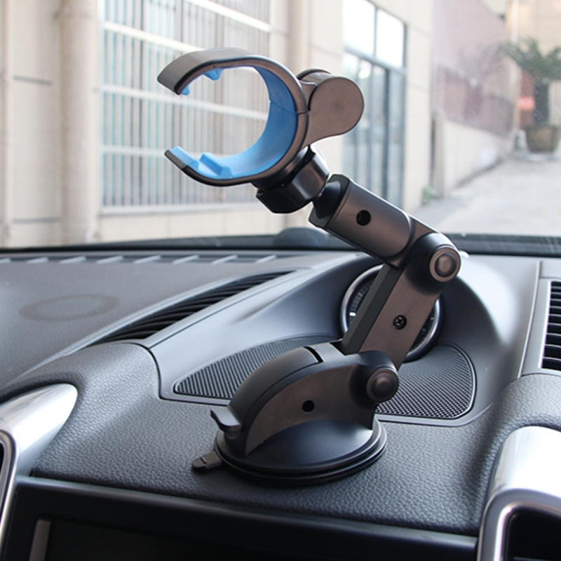 SHUNWEI SD-1112B Car Auto Glutinous Snake Style Adjustable Arm Double Layer PU Base Phone Mount Holder for Most of Device Length between 31mm and 106mm