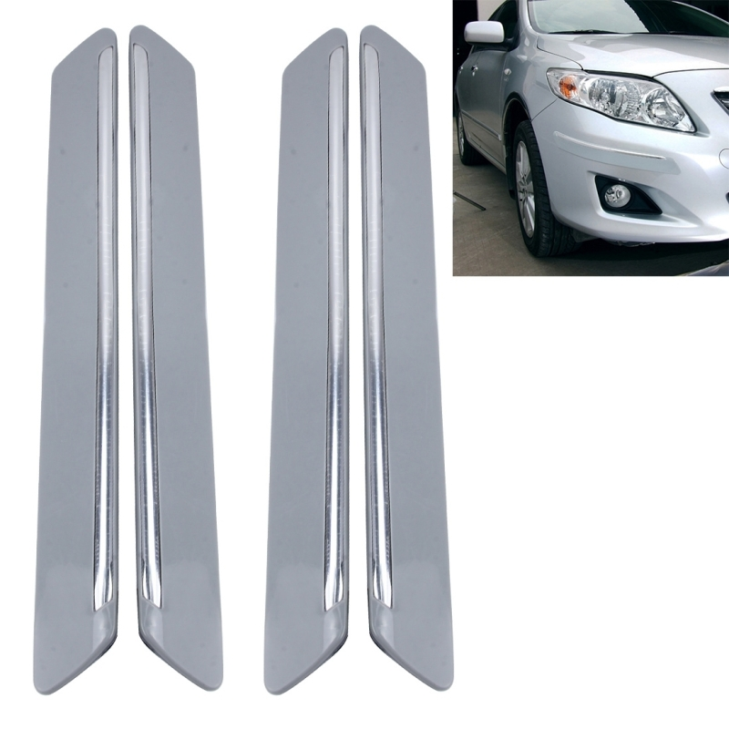 Plastic Wrap Car >> 4 PCS Universal Car Auto Plastic Wrap Rubber Front Rear Body Bumper Guard Protector Strip ...