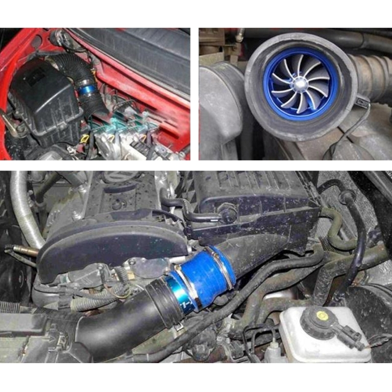 300zx Turbo Fuel Air: Car Stainless Universal Supercharger Dual Double Turbine