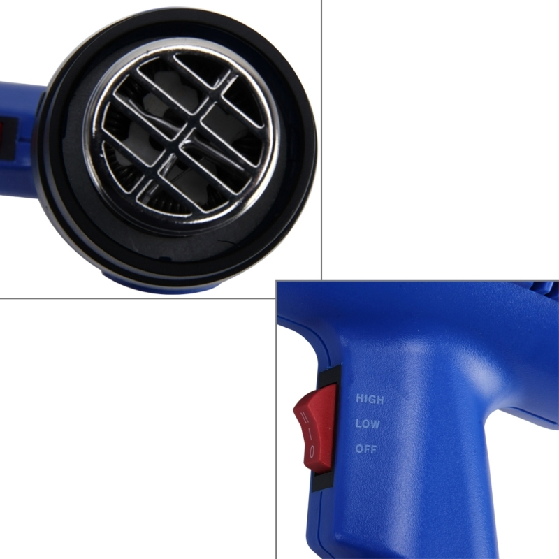 DINGGUAGUA 1800W Industrial Heavy Duty Professional Adjustable Temperature from 50 Degrees Celsius to 650 Degrees Celsius Heat Air Gun Tool
